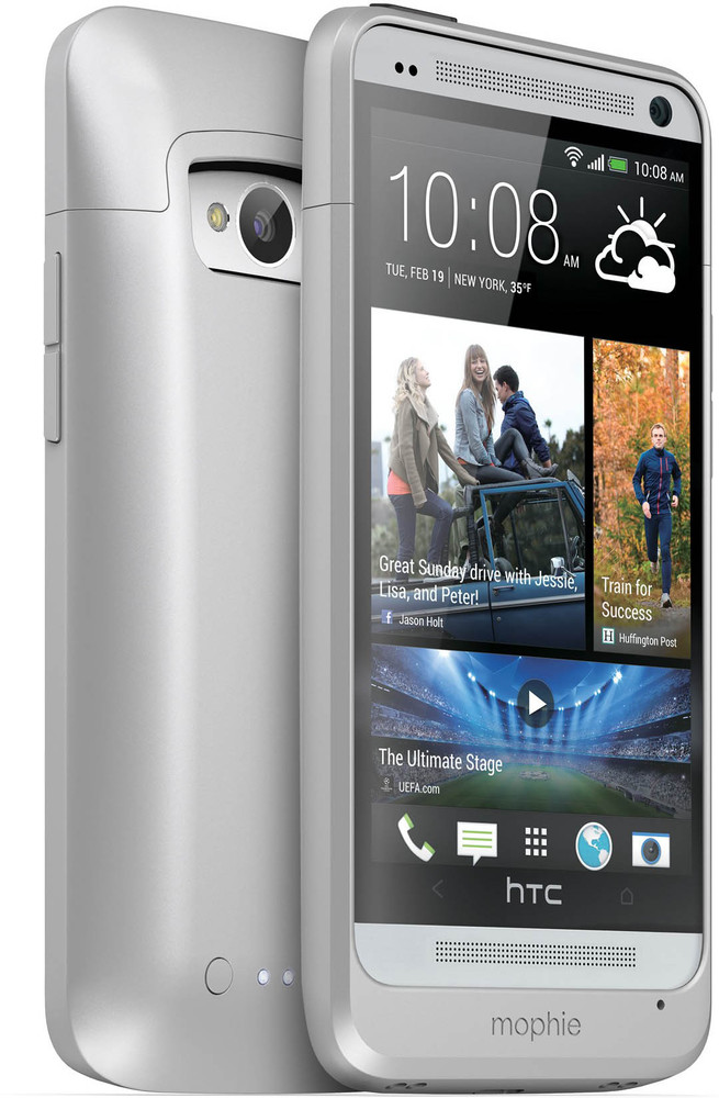 Mophie Juice Pack Htc One Zilver