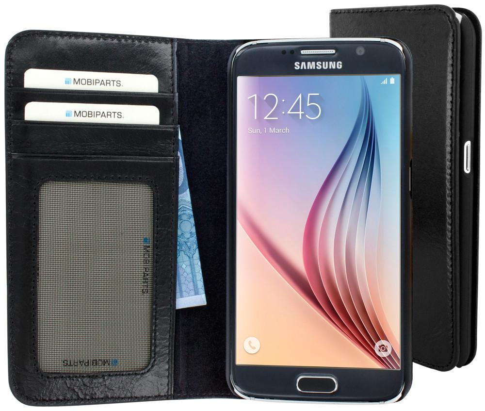 Excellent Wallet Case voor de Samsung Galaxy S6 Jade Black