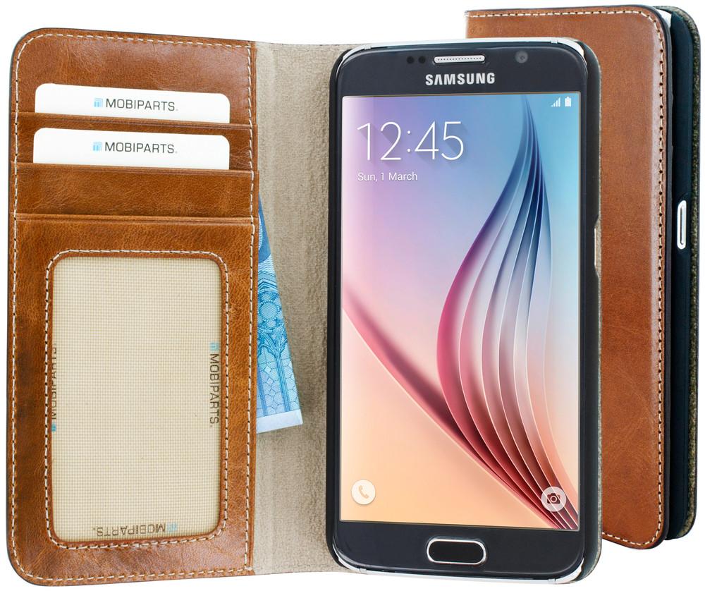 Excellent Wallet Case voor de Samsung Galaxy S6 Oaked Cognac