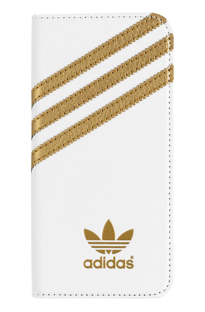 Adidas Basics Premium Booklet iPhone 6-6S White-Gold