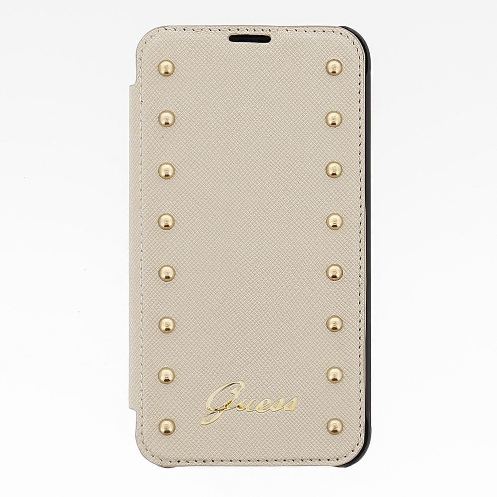 Guess Folio Studded Collection Apple iPhone 6 Plus Wit