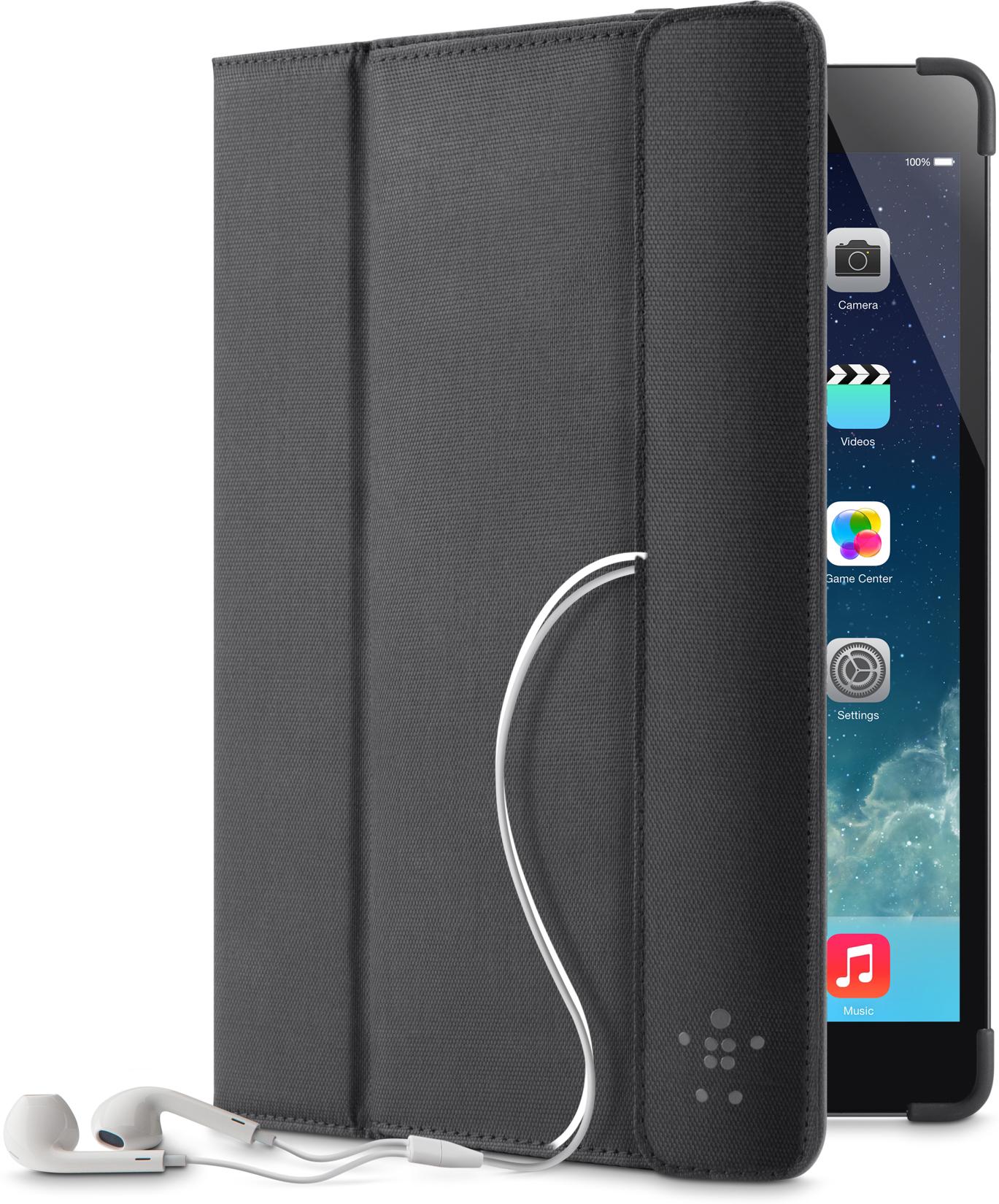 Belkin Etui met opbergvak, f- iPad Air, Zwart (F7N074B2C00)