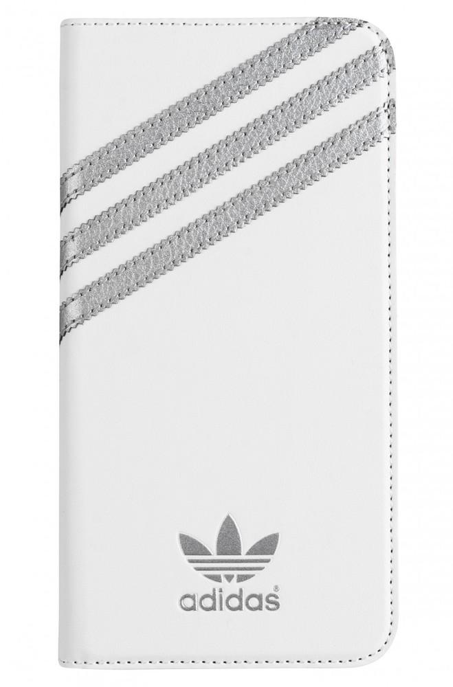 adidas Originals Booklet Case White-Silver iPhone 6 Plus-6S Plus