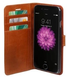 D. Bramante DBramante1928 iPhone 6 Plus Leather Folio Case Copenhagen Golden Tan w (COP6GT000547)