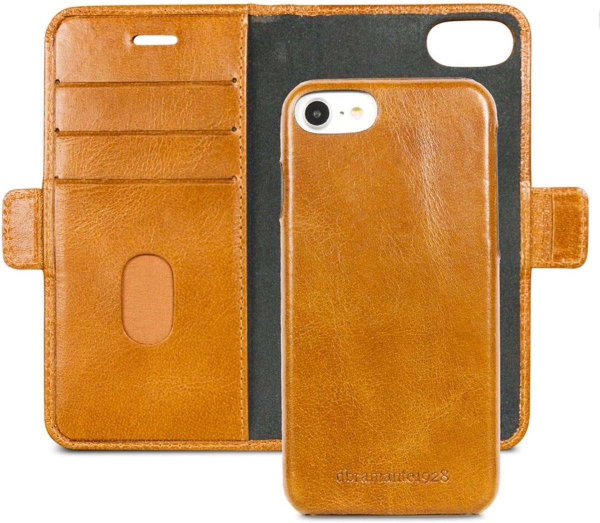 iPhone 6-6S-7-8 dbramante1928 Lynge Wallet Leren Hoesje Golden Tan