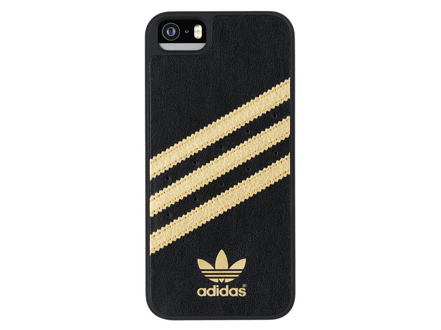 Adidas moulded case iPhone 5(S)-SE zwart-goud
