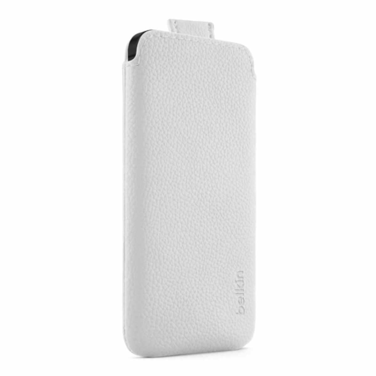 Belkin Leren Pull Case Iphone 5(s)/se Wit