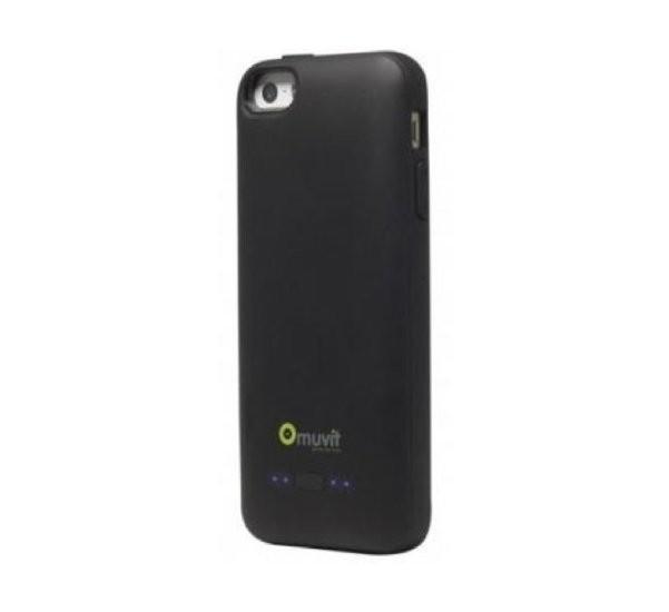 Muvit M133592 VOLT Power Case Zwart (2000mAh) Voor Apple IPhone 5-5S-SE