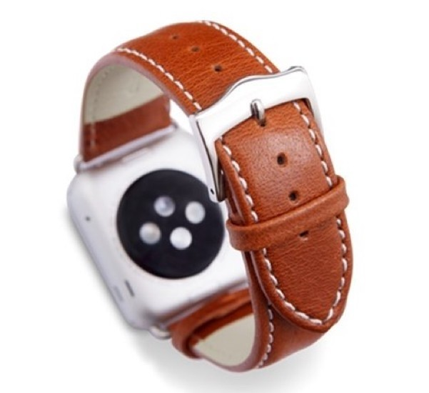 Dbramante1928 Copenhagen Watch Strap 38mm Tan-Silver