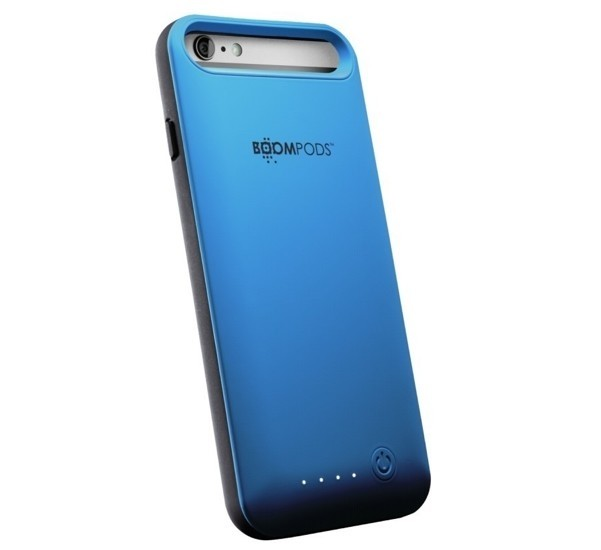 Boompods Power Banks Powercase for iPhone 6 Plus, Blue
