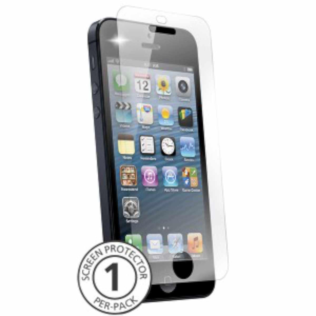NLU Pure Glass ScreenGuardz iPhone 5-5S