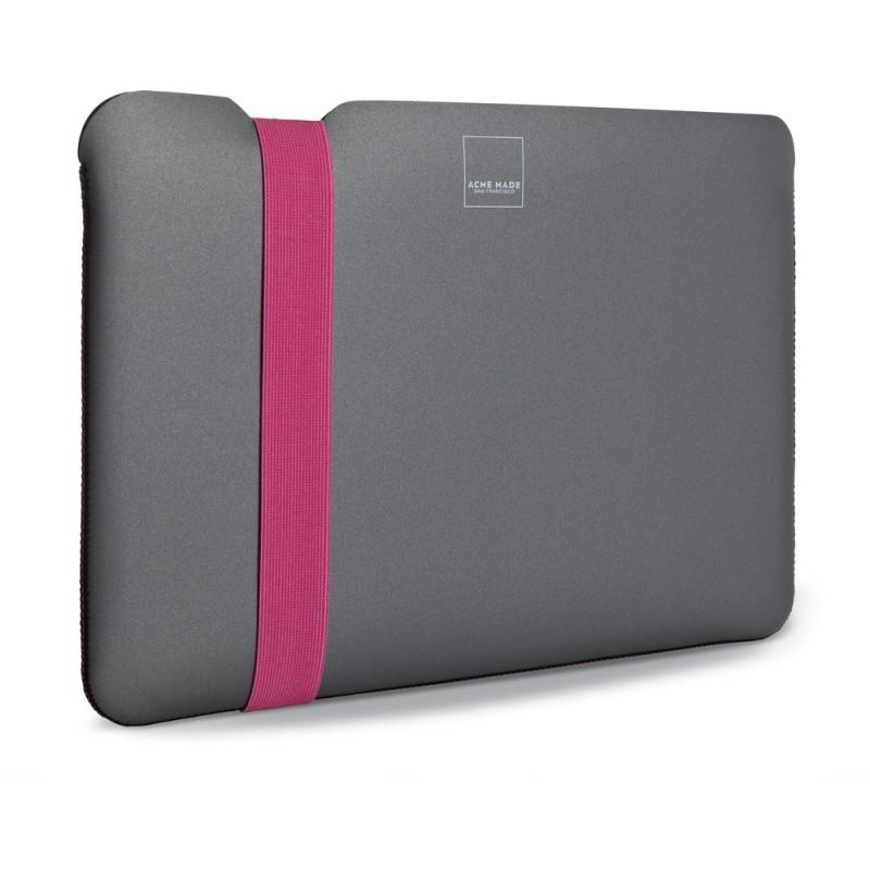 Acme Made Skinny Sleeve MacBook Air 11 inch grijs/roze