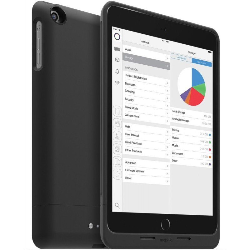 Mophie space pack 32GB iPad mini 1/2/3 8000 mAh zwart
