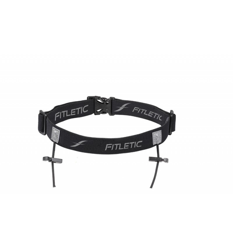 Fitletic Race Number Holder Belt Black / Grey