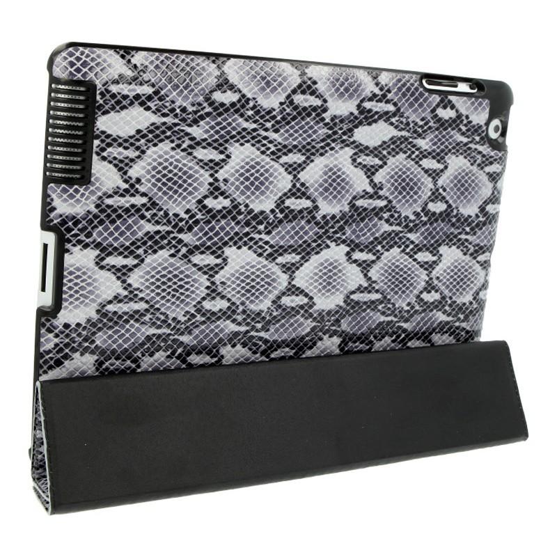 Valenta Flip Animal iPad 2 / 3 / 4 Snake Grey