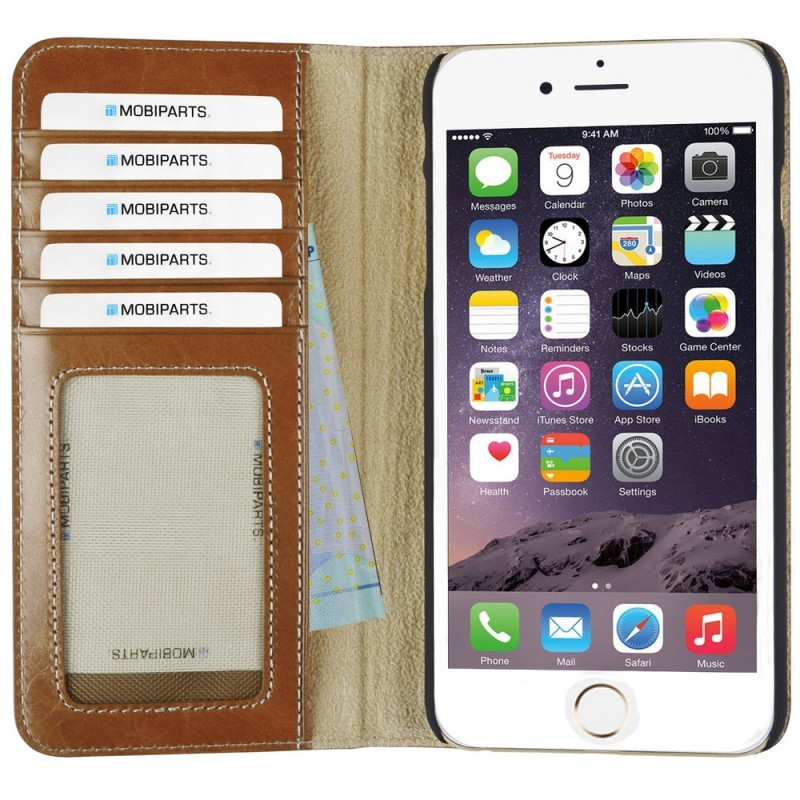 Mobiparts Excellent Wallet Case iPhone 6 Plus / 6S Plus Oaked Cognac