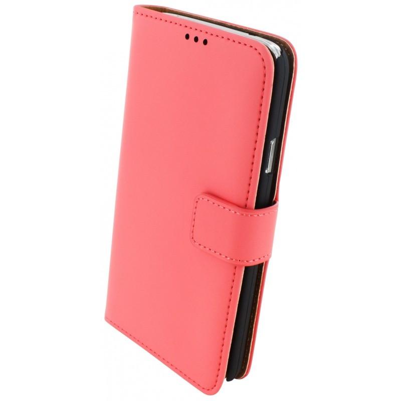 Premium Wallet Case Galaxy S5 / S5 Plus Peach Pink