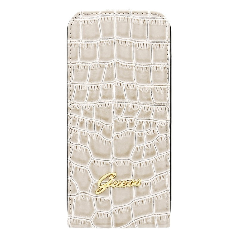 Guess Croco iPhone 6 / 6S Flip Case Beige