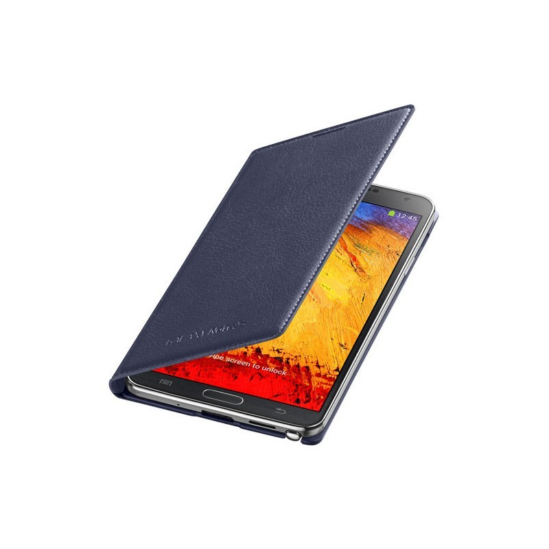 Samsung Flip Wallet Galaxy Note 3 blauw