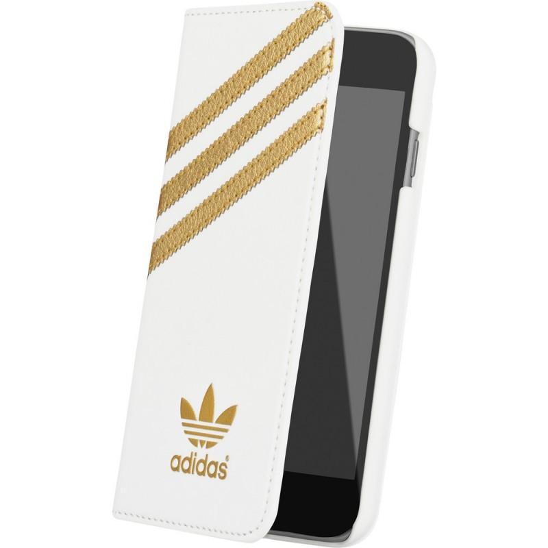 Adidas Basics Premium Booklet iPhone 6 / 6S White / Gold