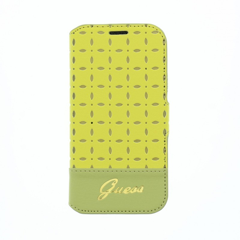 Gianina Galaxy S4 mini Leather Book Case Yellow