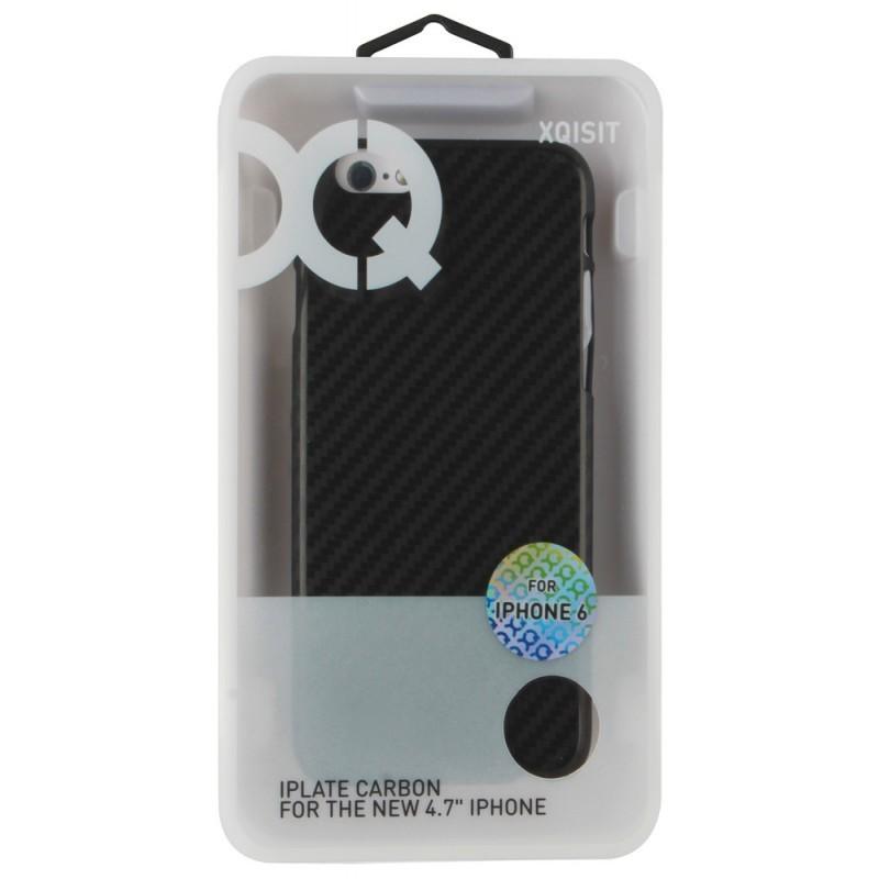 Xqisit iPlate Carbon iPhone 6 Plus / 6S Plus Black