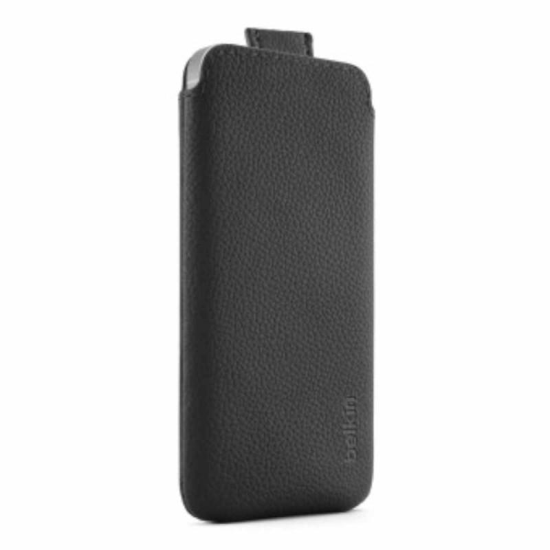 Belkin leren Pull case iPhone 5(S)/SE zwart