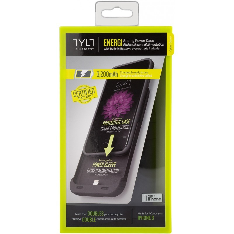 TYLT Energi Power case iPhone 6(S) zwart