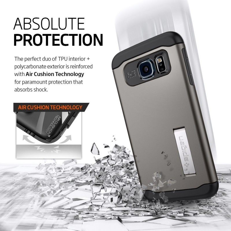 Spigen Slim Armor Galaxy S6 goud