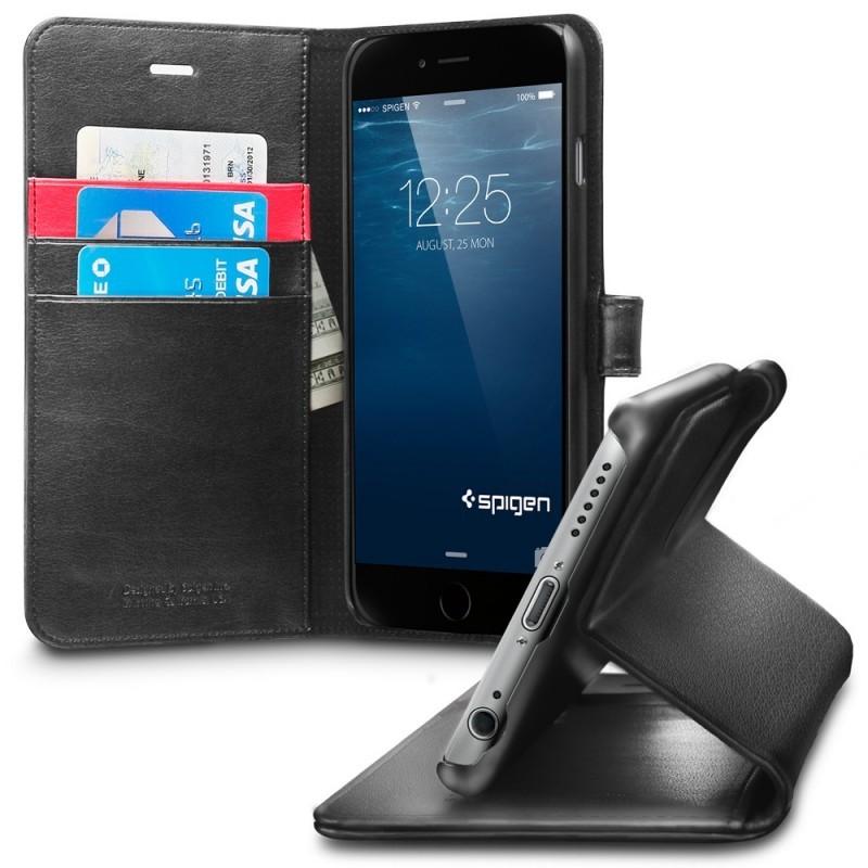 Spigen Wallet S iPhone 6(S) Plus zwart