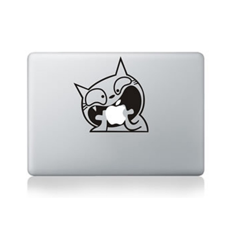 Unique Decal MacBook sticker Crazy Cat