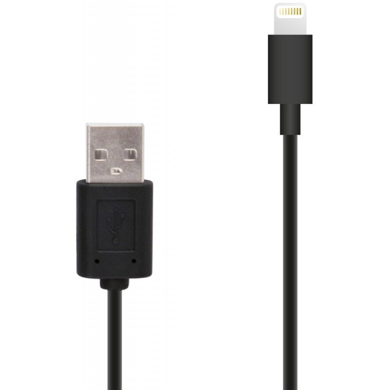 Muvit Lightning-naar-USB kabel (1,00 m) zwart