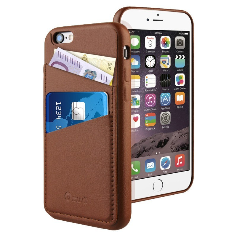 Muvit Leatherette Back Case iPhone 6(S) Brown