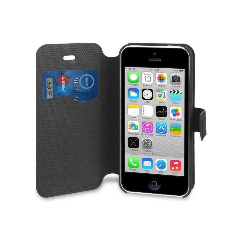 Muvit Magic Wallet Case iPhone 5C zwart