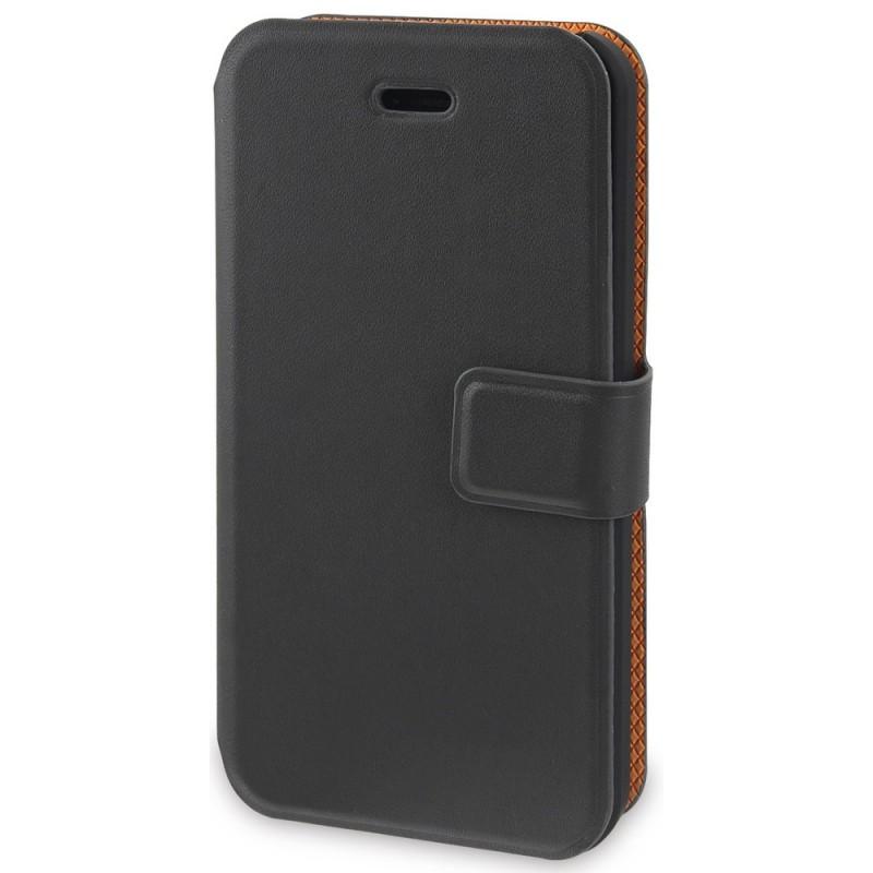Muvit Magic Wallet Case iPhone 5C grijs/oranje