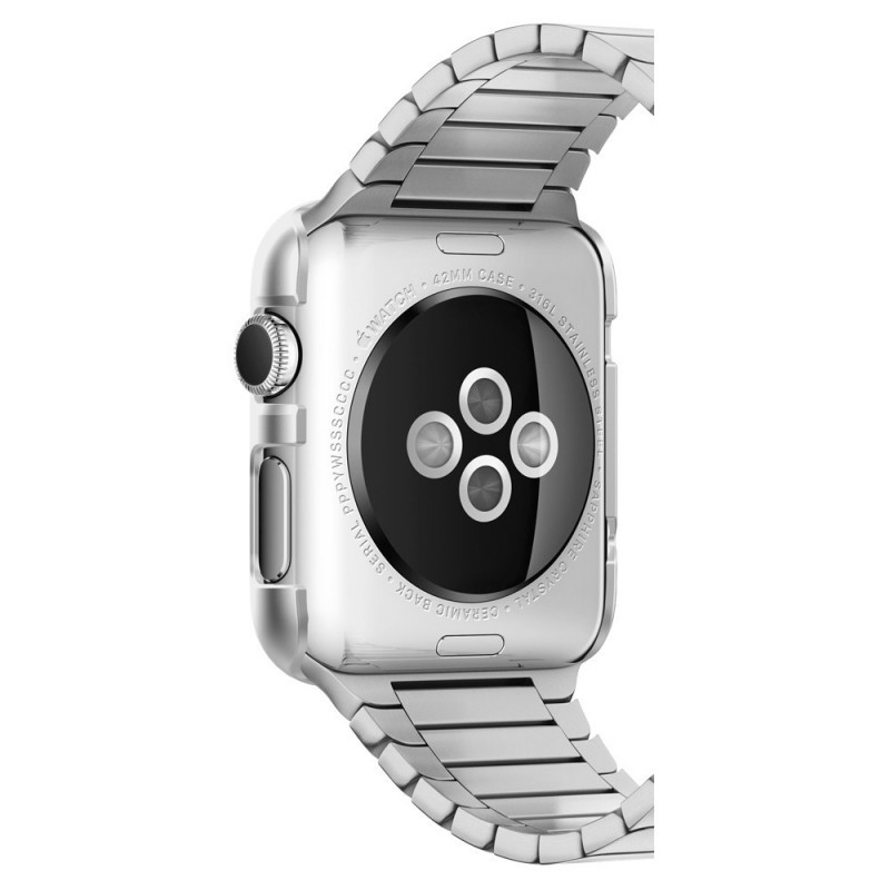 Spigen Thin Fit Apple Watch 38mm Satin Silver