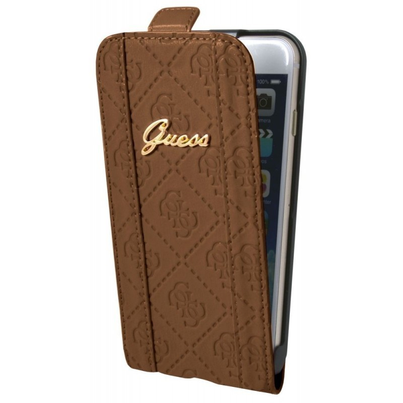 Guess Scarlett iPhone 6 / 6S Flip Case Cognac