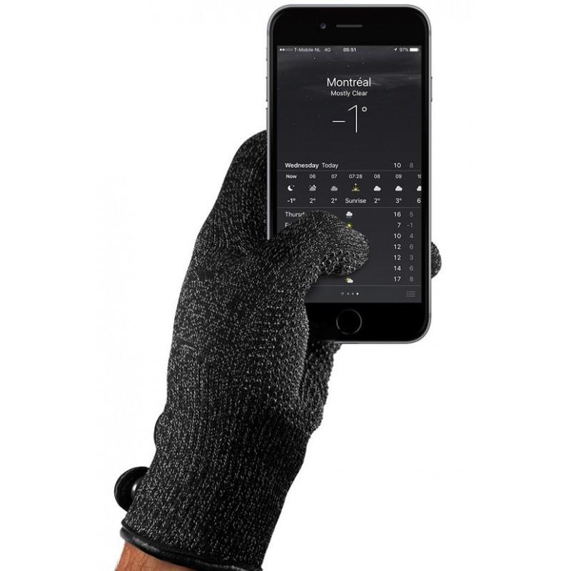 Mujjo Single-Layered Touchscreen Gloves (S) zwart