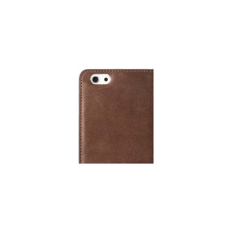Melkco Herman iPhone 5 / 5S Book Case Italian Brown