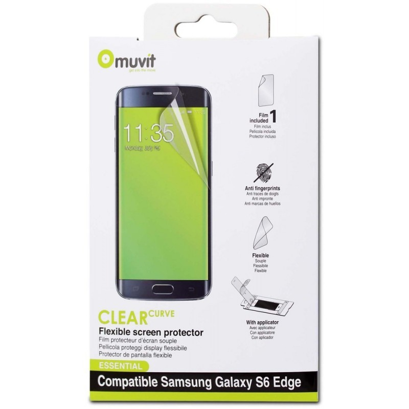Muvit Screenprotector Galaxy S6 Edge Plus Glossy