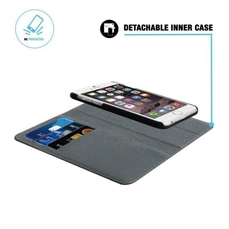 BeHello 2-in-1 Wallet Case iPhone 6(S) zwart