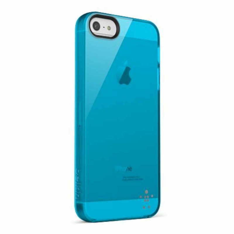 Belkin Grip Sheer transparant blauw iPhone 5(S)/SE