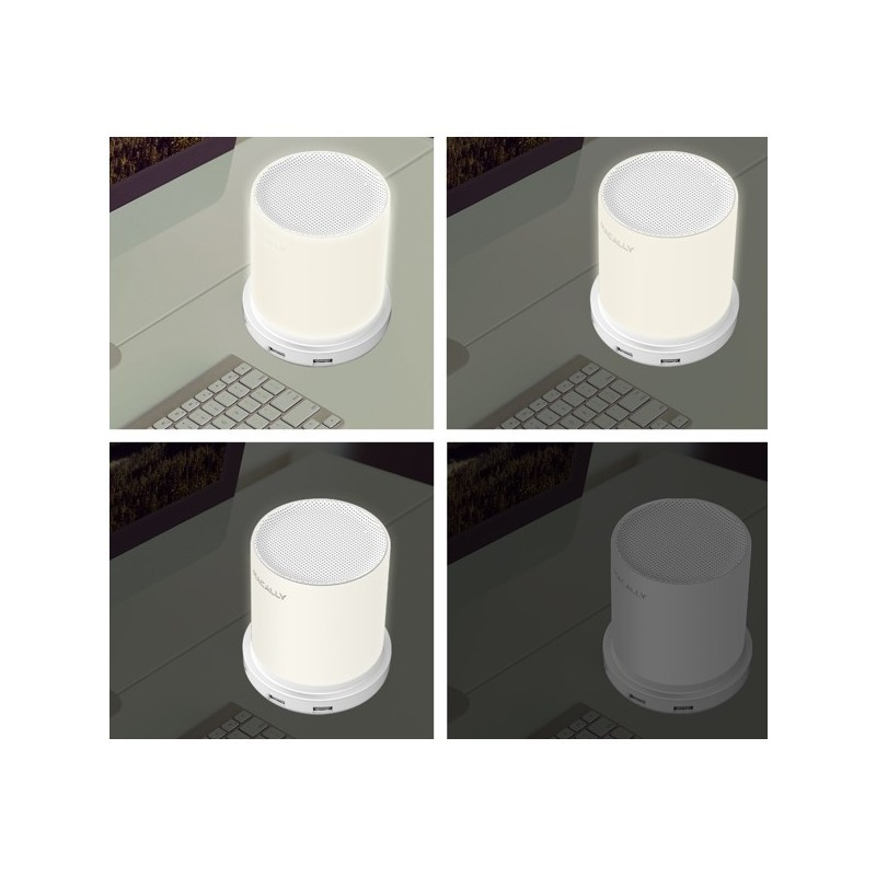 Macally Dimbare Tafel Lamp met 4 x USB-lader (EU) wit