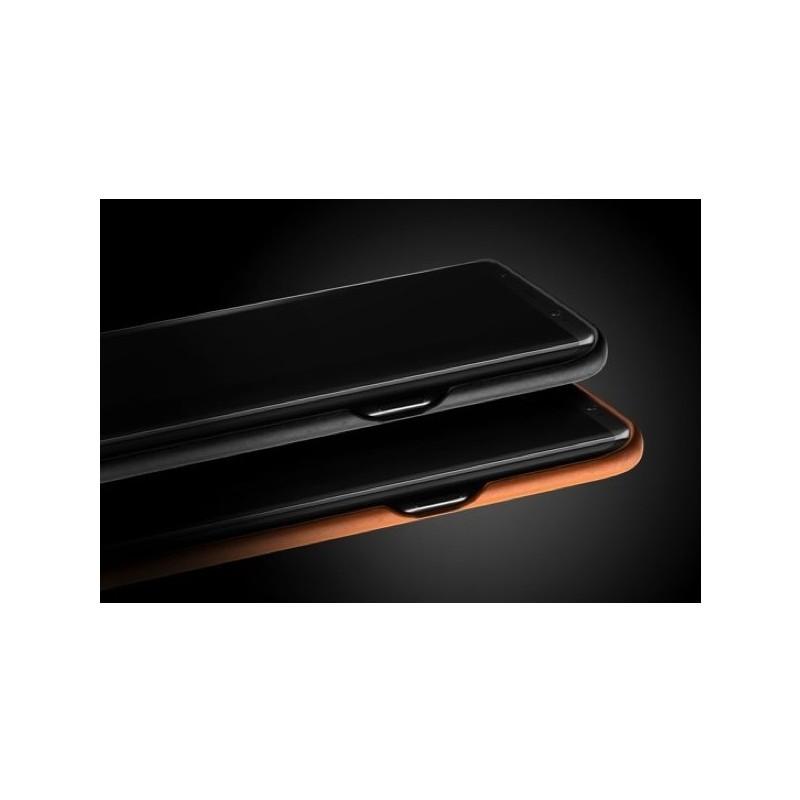 Mujjo Leather Case Galaxy S8 Plus zwart