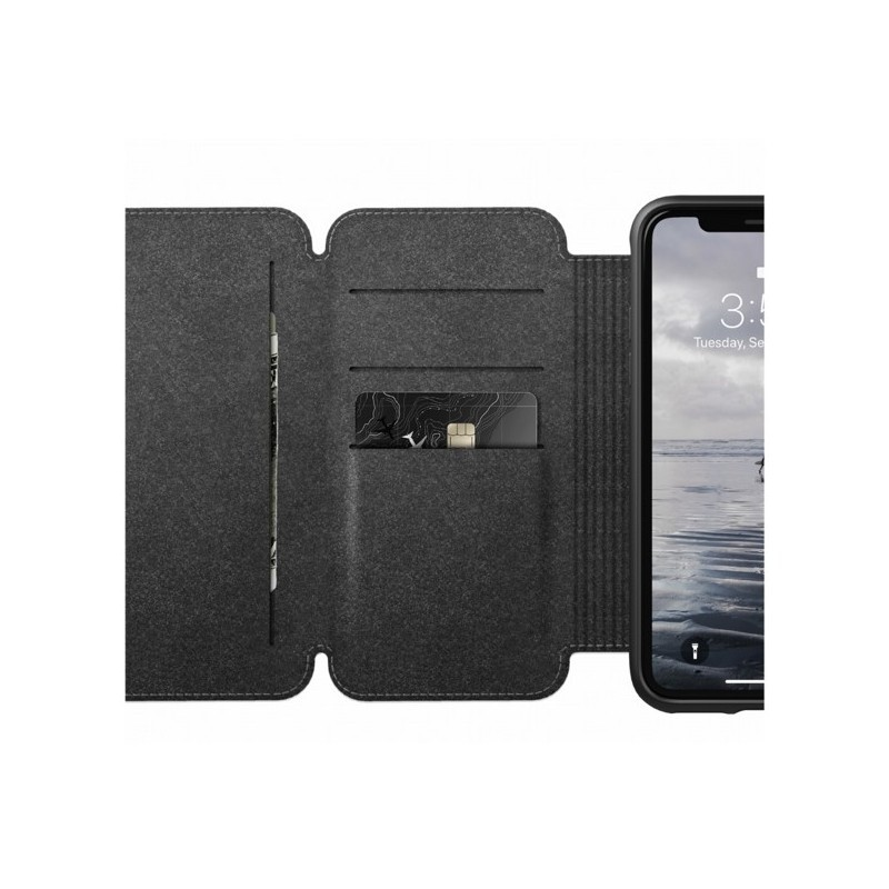 Nomad Rugged Case Tri-Folio iPhone XR bruin