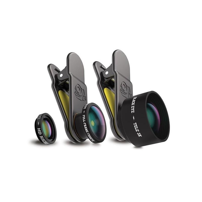 Black Eye PRO KIT: Telex3, Fish Eye, HD Macro + Travel Case