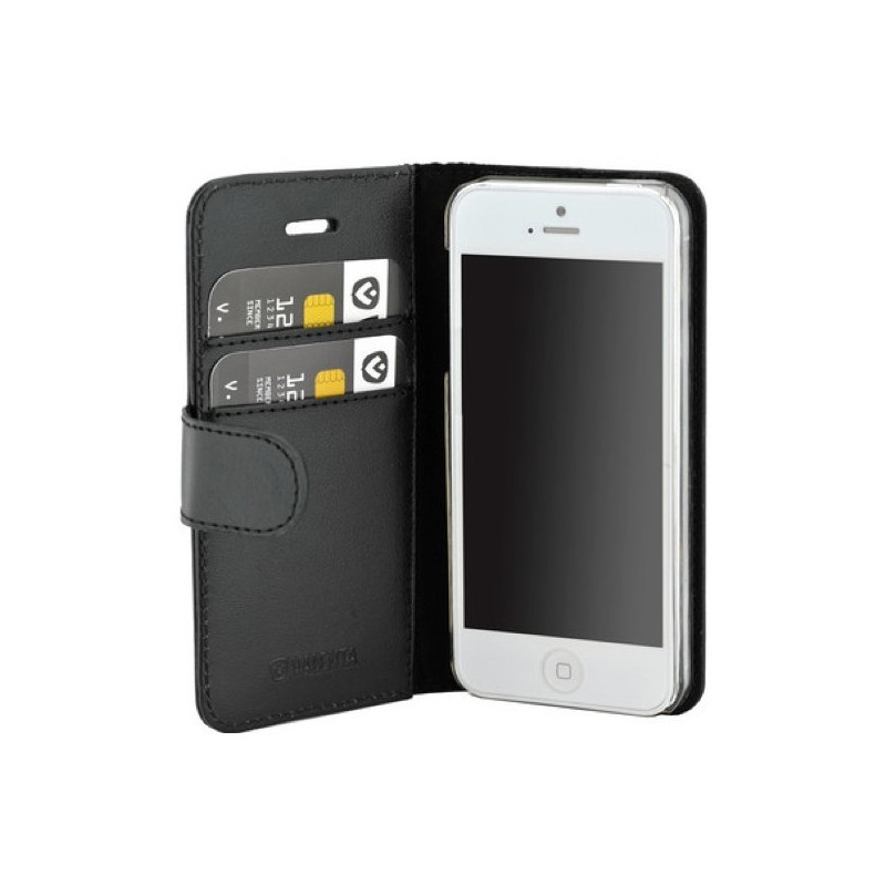 Valenta Booklet Classic Luxe iPhone 5 / 5S / SE Black