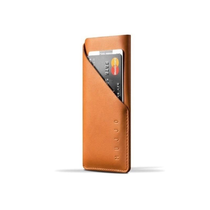 Mujjo wallet leren sleeve iPhone 6(S) / 7  / 8 bruin