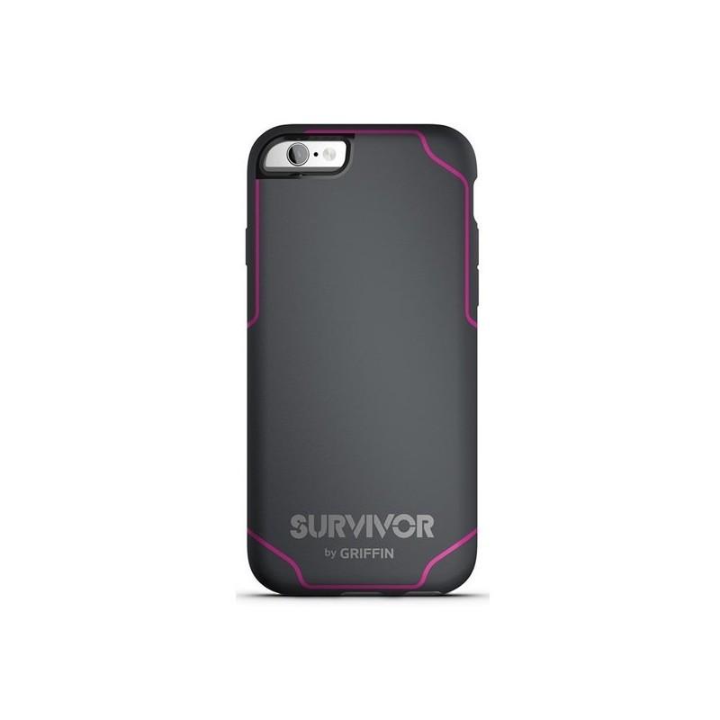 Griffin Survivor Journey iPhone 6(S) grijs/roze