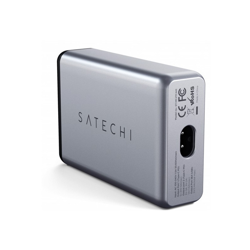 Satechi 75W Dual Type-C PD Travel Charger grijs